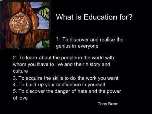 tony benn education