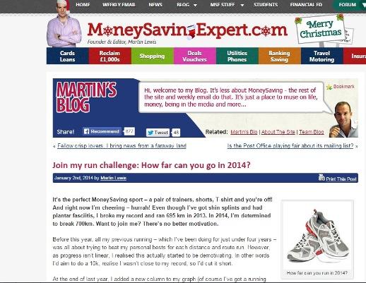 Martin Lewis Run Challenge 2014